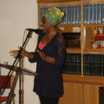 Reading at launch of Kadija George's poetry collection 'Irki'. Barbican, London